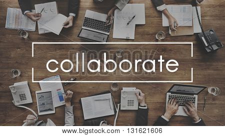 Collaborate Group Team Share Interaction Concept