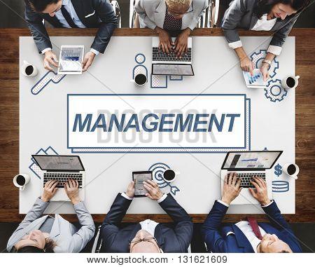 Management Business Leader Coordination Graphic Concept