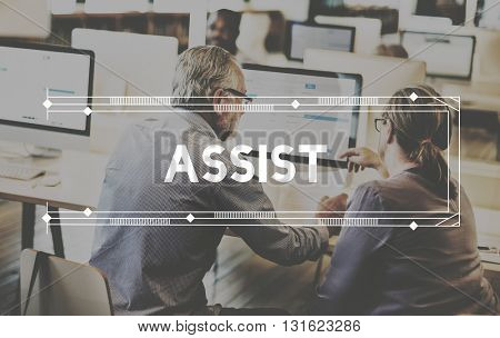 Assist Assistance Support Help Service Concept