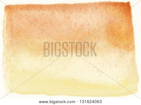 abstract faded yellow and brown watercolor background