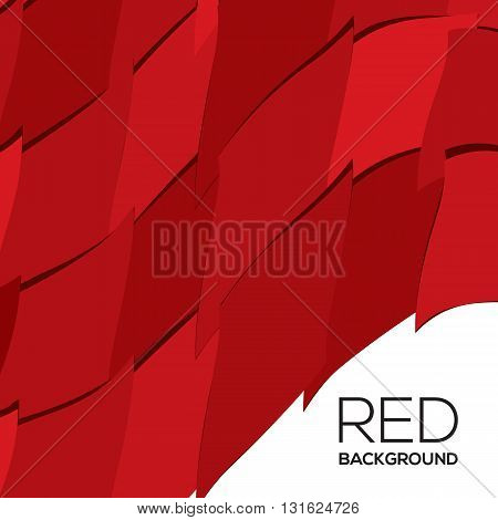 Red Graphic Background Vector Illustration. EPS 10