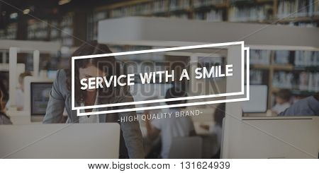Service Smile Expression Customer Business Care Concept