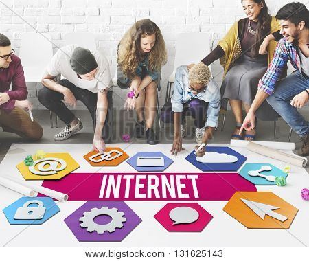 Internet People Network Graphic Concept