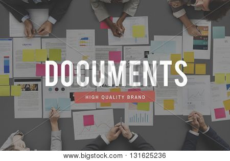 Document Archive Forms Letters Notes Paperwork Concept