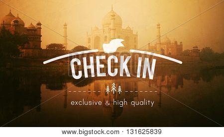 Check in Location Place Travel Destination Concept