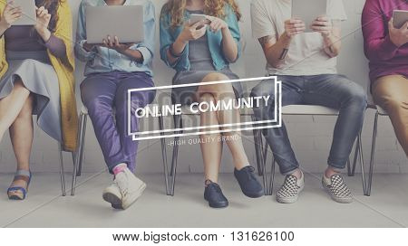 Online Communication Community Social Media Concept