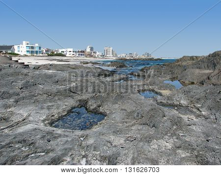 View Of Blouberg Strand With Boulders In Fore Ground, Cape Town South Africa  31