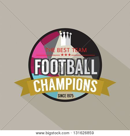 Football Champions Badge Vector Illustration. EPS 10