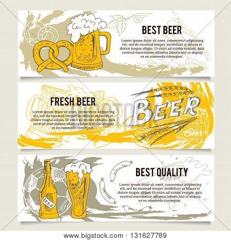 Beer banners or website header set for beer restaurant, cafe, bar. Tooth toothbrush toothpaste healthy tooth tooth brushes tooth paste mouth wash dental floss.