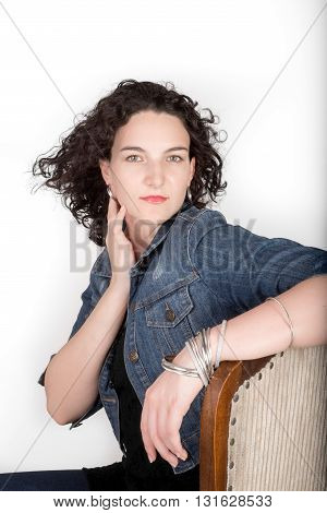 Young Woman With Jean Jacket