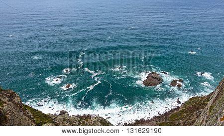 European rocky Atlantic coast. Cabo da Roca.