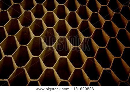 The hexagon ole vintage of a background