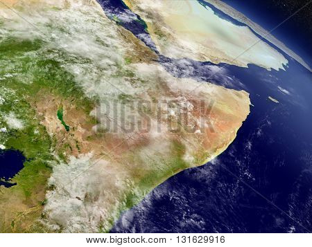 Somalia And Ethiopia From Space