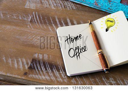 Handwritten Text Home Office