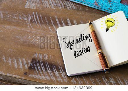 Handwritten Text Spending Review
