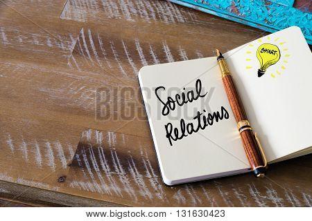 Handwritten Text Social Relations