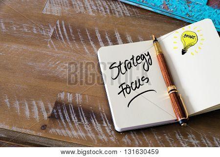 Handwritten Text Strategy Focus