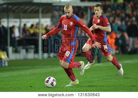 PRAGUE 27/03/2015 _ Jiri Skalak and Tomas Holes. Friendly match Czech Republic U21 - England U21.