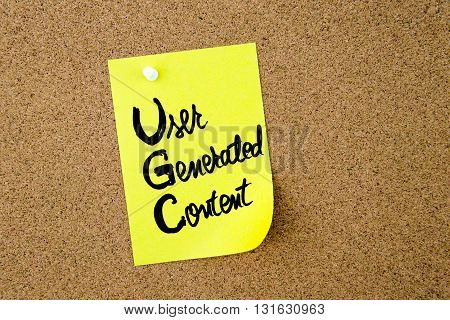 Business Acronym Ugc User Generated Content