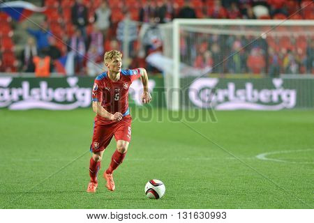 Prague 28/03/2015 _ Vaclav Prochazka of Czech Republic. Match of EURO 2016 qualification group A Czech Republic - Latvia 1:1 (0:1). Goals 90' Pilař - 30' Višnakovs.