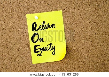 Business Acronym Roe Return On Equity