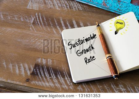 Handwritten Text Sustainable Growth Rate