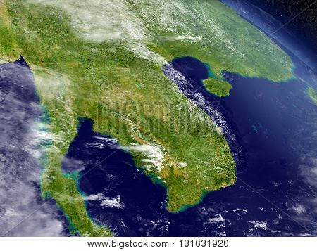 Laos And Cambodia From Space