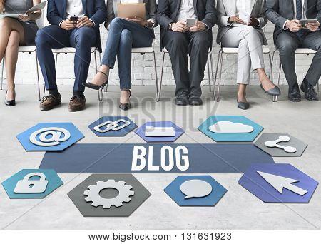 Blog Online People Diversity Graphic Concept