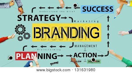 Branding Advertising Commercial Trademark Marketing Concept