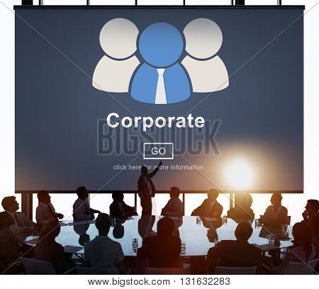 Corporate Business Company Network Organization Concept