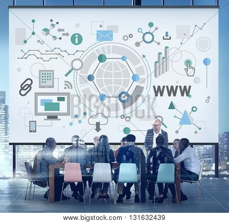 Global Business Analysis Innovation Connection Concept