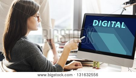 Digital Technology Electronic Internet Innovation Concept
