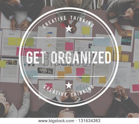 Organize Arrange Adjust Classify Order Concept