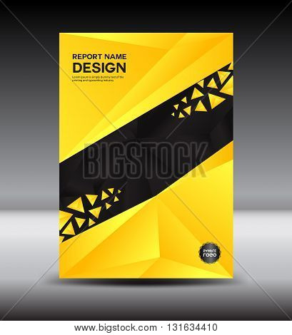 Yellow Cover design and Cover Annual report vector illustration booklet poster leaflet