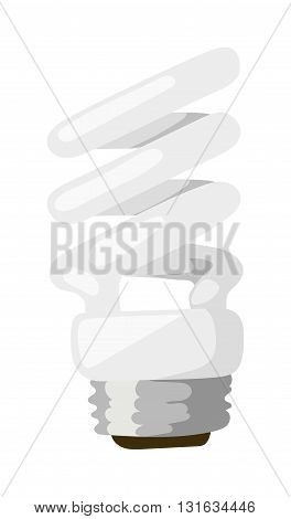 Energy saving lamp isolated on white background and power save lamp light vector. Power save lamp energy technology and electric light bulb power saver lamp. Power save lamp bright economy alternative