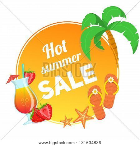 Summer sale vector illustration. Easy to edit design template.