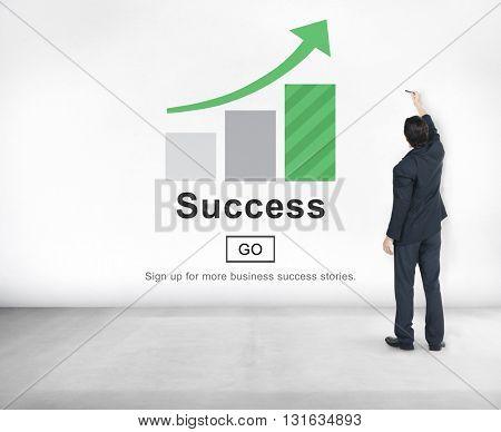 Success Mission Improvement Achievement Victory Concept