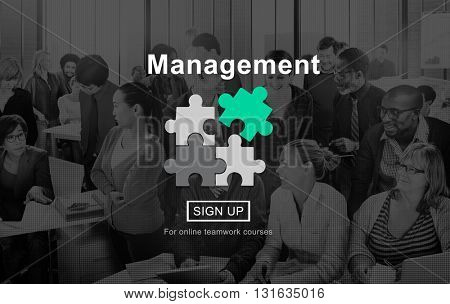 Management Business Strategy Homepage Concept