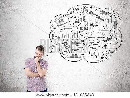 Man Thinking About Success
