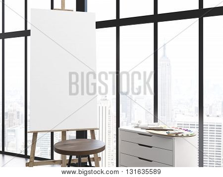 Blank Easel In Interior