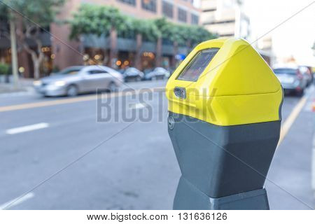 elegant parking machine on street in san francisco