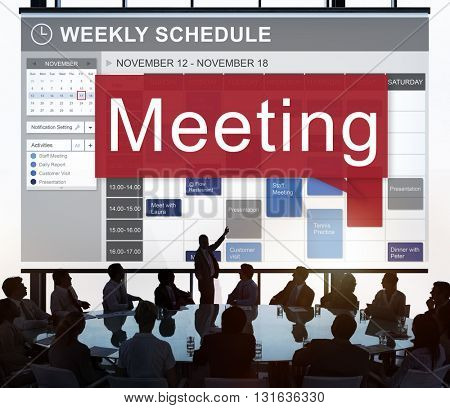 Meeting Appointment Schedule Organizer Conference Concept