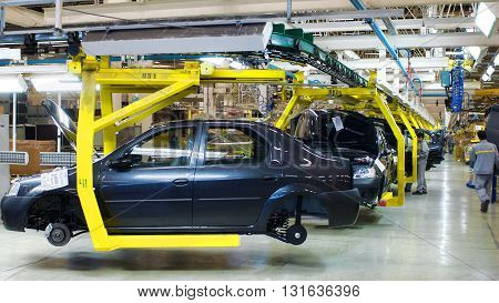 Samara , Russia -December 13, 2007: Assembly line of LADA Cars Automobile Factory AVTOVAZ