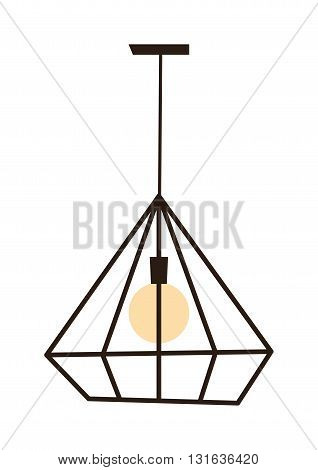 Modern lamp cool pendant isolated on white. Modern lamp interior light design and modern lamp decoration. Modern lamp home object bulb furniture. Modern lamp bright night ceiling equipment.