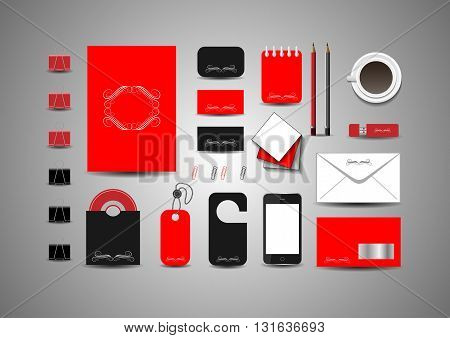 Abstract Corporate Business branding identity design. Vector