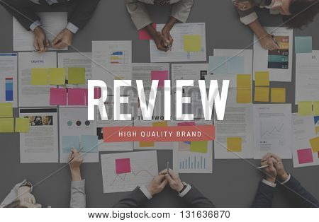 Review Inspection Examination Evaluation Audit Concept