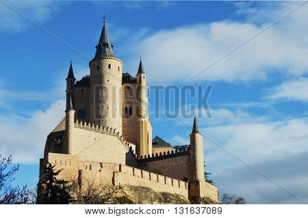 Castle in Segovia named Alcazar. Alcazar of Segovia