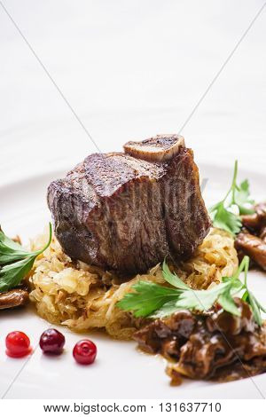 meat with cabbage