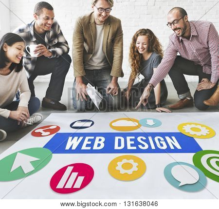 Web Design People Meeting Discussion Concept