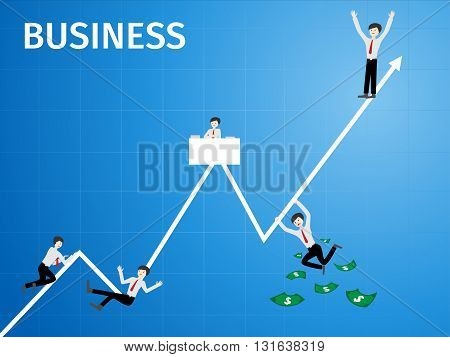 business man graph and chart , business concept